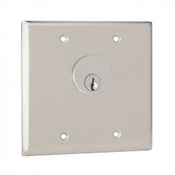 Camden CM-3200 / CM3500 Series Double Gang Key Switch - Stainless Steel Faceplate