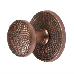 Copper Factory CF181 Solid Cast Brass Round Passage Door Set