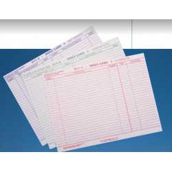 Lund 511 One Tag Key System Index Sheets
