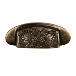 Brass Elegans BE-38 Solid Brass Vintage Ashby Drawer Pull