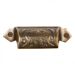 Brass Elegans BE-35 Solid Brass Vintage Raleigh Drawer Pull