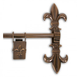 Brass Elegans 33TH Solid Brass Fleur-De-Lis Tapestry Hanger