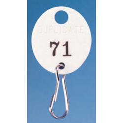 Lund 504 Fiber Duplicate Key Tags, Lot 100