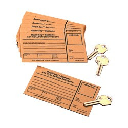 MMF 201801400 Key Collection Envelopes Two Tag System