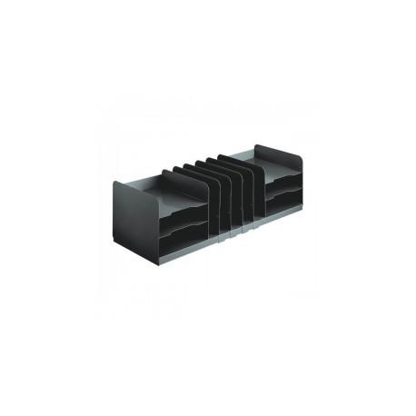 MMF 26420HVHABLA Steel Combo Organizer w/ Adjustable Shelves-Black