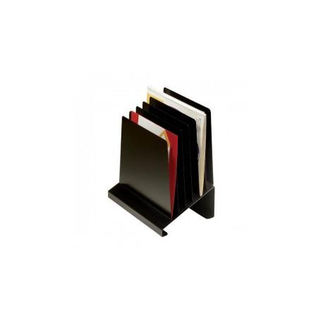 MMF 264808BK Steel Slanted Vertical Organizer-Black (8-Pocket)