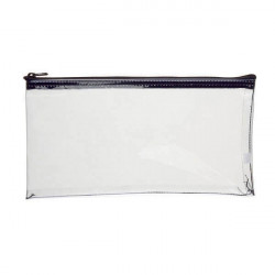 MMF 234041720 Vinyl Mini Zipper Wallet-Clear (11X6)