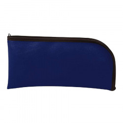MMF 2340500C5 Leatherette Vinyl Top Side Zipper Wallet (11.5X6)