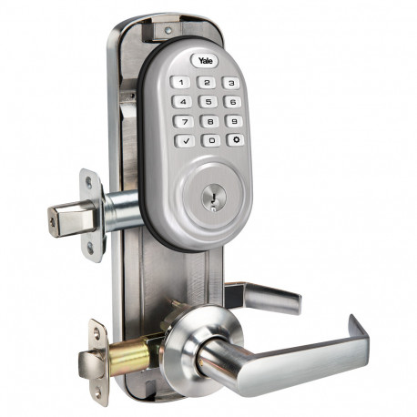Yale YRC216 Assure Pushbutton Interconnected Lock, Satin Nickel