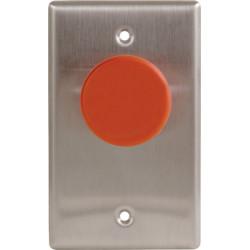 Camden CM-400N Series Mushroom Push Button W/ Stainless Steel Narrow Faceplate