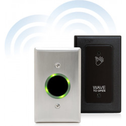 Camden CM-324 Battery Powered Wireless Active Infrared Hands-Free Switch with Stainless Steel Faceplate
