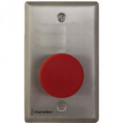 Camden CM-450RL-7724-CPC Single Gang Faceplate, Heavy Duty, Vandal Resistant Mushroom Push Button, Stainless Steel