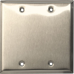 Camden CM-43CP Double Gang/Square Mounting Box, Double Gang Stainless Steel Cover Plate