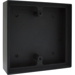"""Camden CM-43LP Double Gang/Square Mounting Box, Flame/Impact Resistant Black Plymer (ABS) 5"""" X 5"""" X 13/8"""""""
