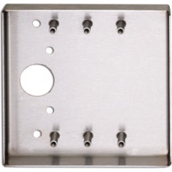 Camden CM-44 Double Gang/Square Mounting Box, Offset Mount (On Jamb), Stainless Steel 4 1/2ā€¯ H x 4 1/2ā€¯ W x 5/8ā€¯ D