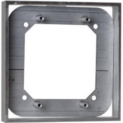 "Camden CM-48AL Double Gang/Square Mounting Box, Anodized Aluminum 4 1/2""W X 4 1/2""H X 3/4""D"