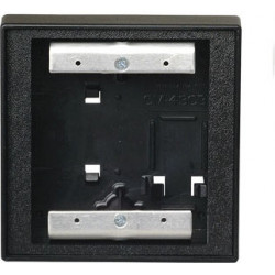 Camden CM-53 Double Wall/Square Mounting Box, Flame/Impact Resistant Black Polymer (ABS), For Use w/ CM-2