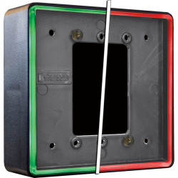Camden CM-54i Double Gang/Square Mounting Box, Flame/impact Resistant Black Polymer (ABS), (Illuminated Red/Green/Blue)