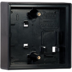 Camden CM-55CBL Double Gang/Square Mounting Box, Flame/impact Resistant Black Polymer (ABS)