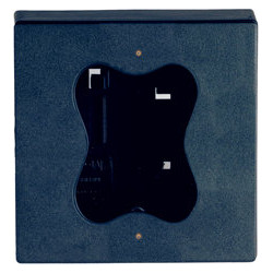 Camden CM-63CBL Double Gang/Square Mounting Box, Flame And Impact Resistant Black Polymer (ABS)