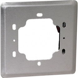"""Camden CM-440 Double Gang/Square Mounting Box, 5"""" Dress Plate, Single Gang. Heavy Gauge Stainless Steel, For 4 1/2"""" switches."""