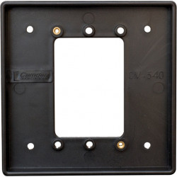 Camden CM-540B Double Gang/Square Mounting Box, Flame & Impact Resistant Black Polymer (ABS)