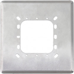 """Camden CM-660 Double Gang/Square Mounting Box, 6 1/2"""" Dress Plate Cover, Heavy Gauge Stainless Steel, For 6"""" Switches"""