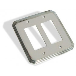 Colonial Bronze 6001-2G Double GFI Square Deco Switch Plate