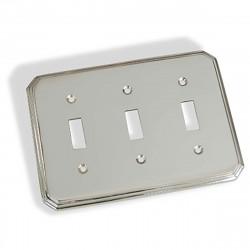Colonial Bronze 6001-3T Triple Toggle Square Deco Switch Plate