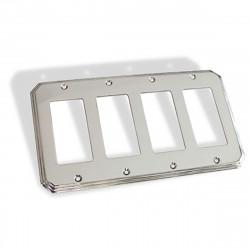 Colonial Bronze 6001-4G Quad GFI Square Deco Switch Plate