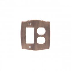 Colonial Bronze 6005-1G1D Single GFI/Single Duplex Colonial Switch Plates