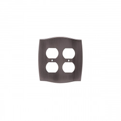 Colonial Bronze 6005-2D Double Duplex Colonial Switch Plate