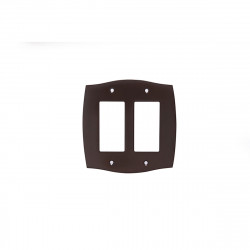 Colonial Bronze 6005-2G Double GFI Colonial Switch Plate