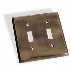 Colonial Bronze 6008-2T Double Toggle Square Bevel Switch Plate