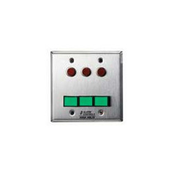 Alarm Controls SLP-3L Double Gang Stainless Steel Wall Plate Monitoring Control Station