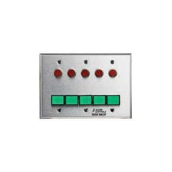 Alarm Controls SLP-5L Three Gang Stainless Steel Wall Plate Monitoring Control Station