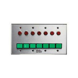 Alarm Controls SLP-7L Four Gang Stainless Steel Wall Plate Monitoring Control Station