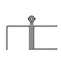 Markar FM900 Full Mortise Pin and Barrel Toilet Partition Hinge