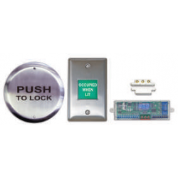 "Camden CX-WC12 Restroom Control Kit, 4½"" Push Plate & Annunciator System"