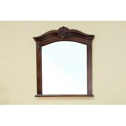 """Bellaterra 202016A Solid Wood Frame Mirror - Walnut - 33.5x2x38.6"""""""