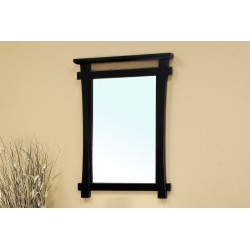 Bellaterra 203012 Solid Wood Frame Mirror - Black - 27.6x2x37.4""