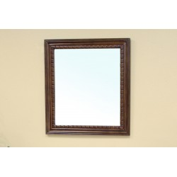 Bellaterra 203045 Solid Wood Frame Mirror - Walnut - 35.5x1x31.5""