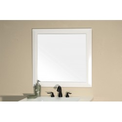 Bellaterra 203054 Solid Wood Frame Mirror - White - 31.5x1x31.5""