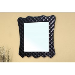 Bellaterra 203057B Solid Wood Frame Mirror - Black - 31.5x2x34.1""