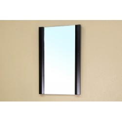 Bellaterra 203102 Solid Wood Frame Mirror - Black - 19.7x2x31.5""