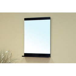 Bellaterra 203107 Solid Wood Frame Mirror - Black - 29.5x5.2x33.4""