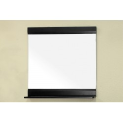 Bellaterra 203110 Solid Wood Frame Mirror - Black - 31.5x4x32.5""