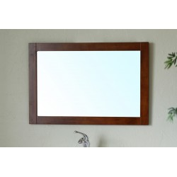 Bellaterra 203129 Mirror Wood Frame - Walnut - 35.5x1x23.5""
