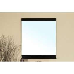 Bellaterra 203131 Solid Wood Frame Mirror - Black - 27.6x4.7x31.6""