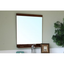 Bellaterra 203131 Solid Wood Frame Mirror - Walnut - 27.6x4.7x31.6""